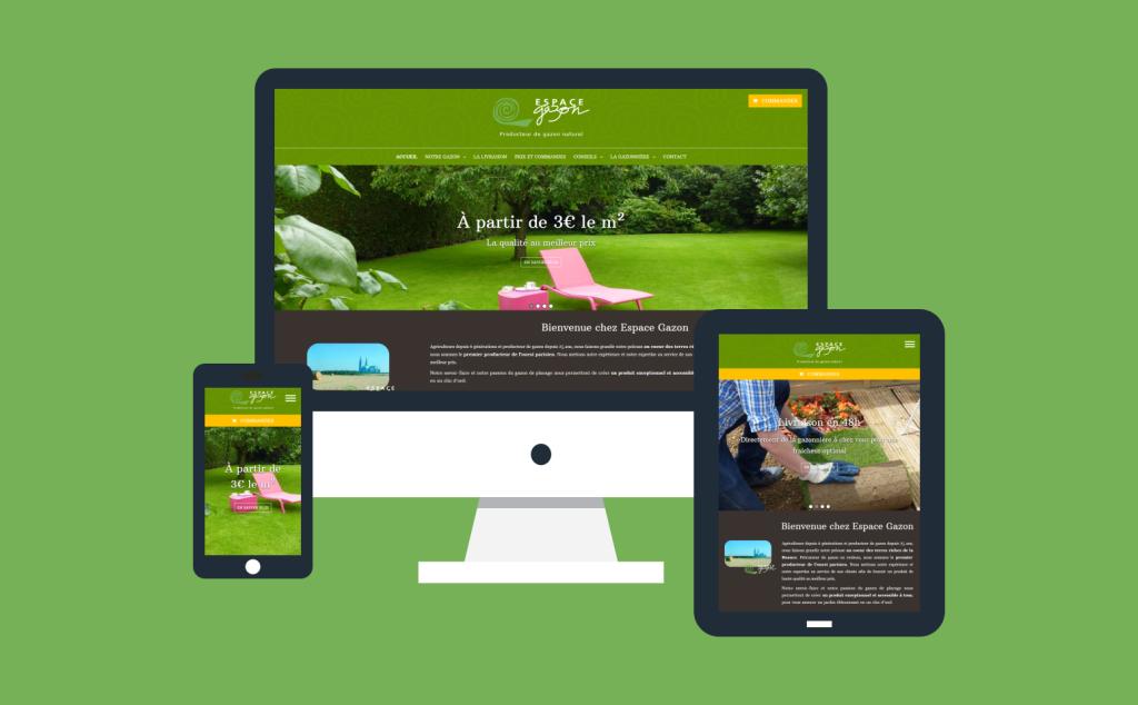 Nouveau site internet responsive pour Espace Gazon