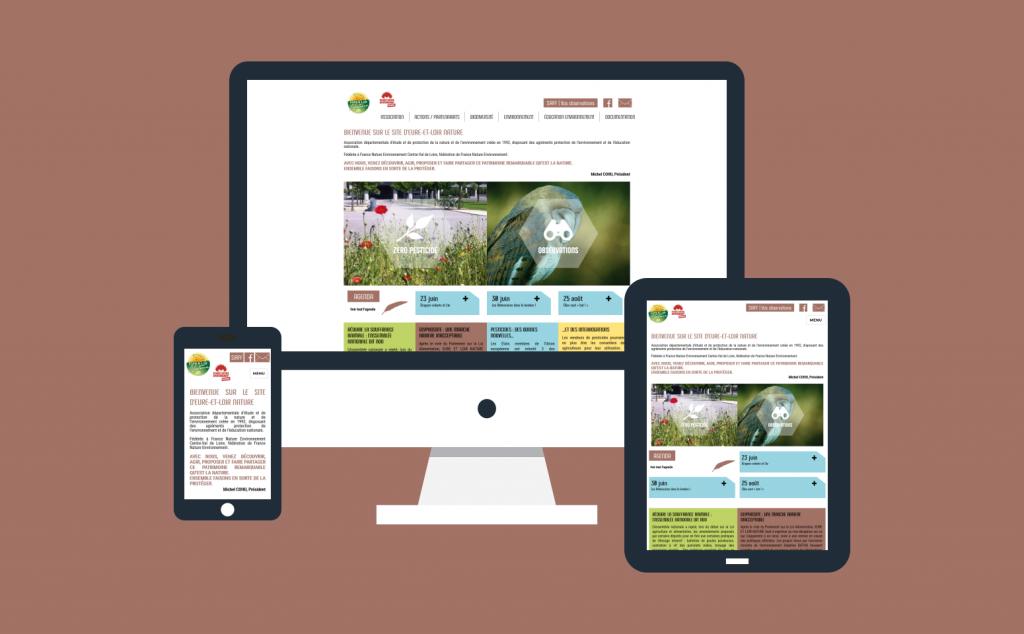 Refonte du site internet d'Eure-et-Loir Nature