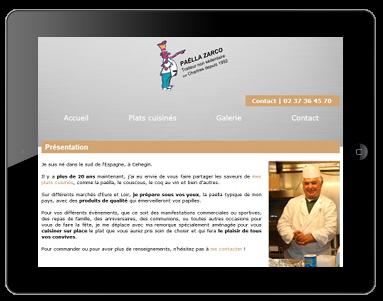 Refonte en responsive design pour le site internet du traiteur sur Chartres Paëlla Zarco