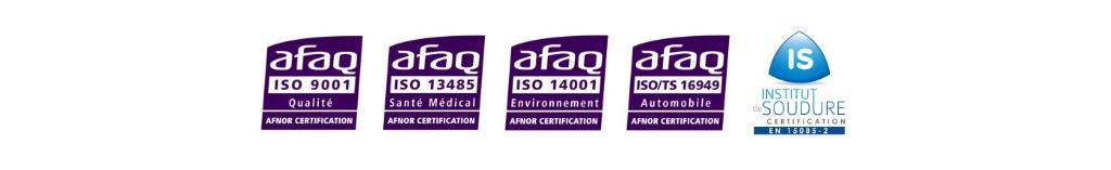 Certifications ISO et EN sur le site internet de SCRI