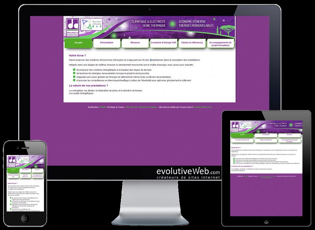Refonte en responsive design pour le site internet du bureau d'études sur Chartres Delage & Couliou