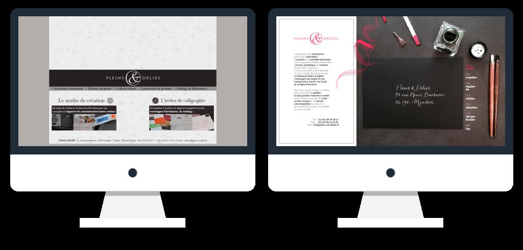 Avant et après le nouveau site internet de Pleins & Déliés