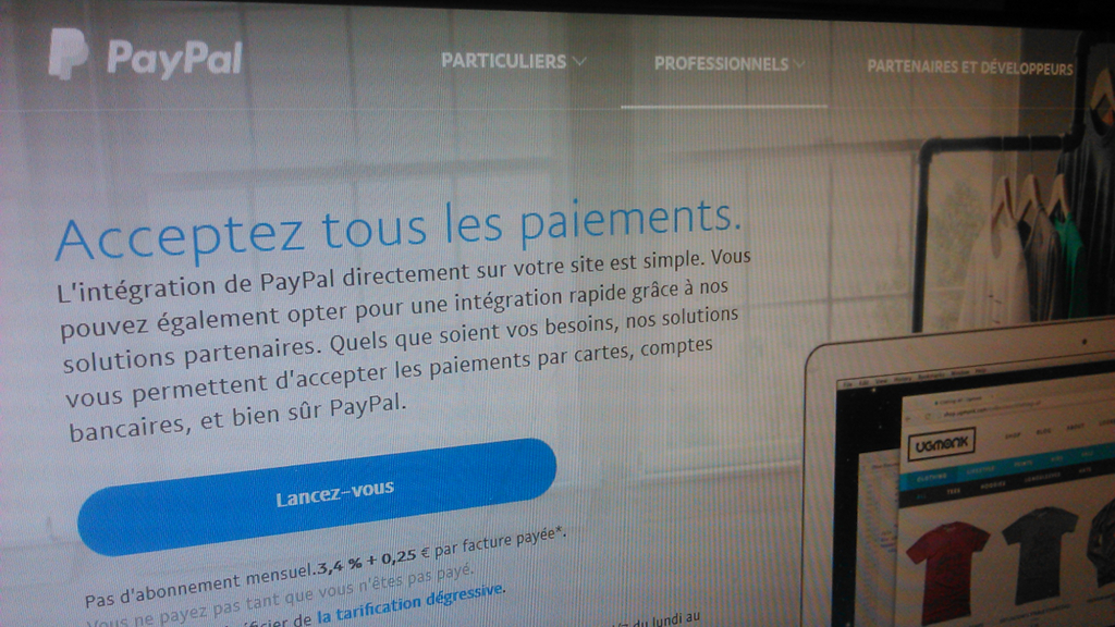 Solution de paiement en ligne sécurisé PayPal