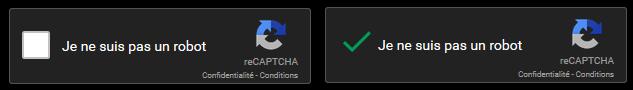 Protection anti-spam reCaptcha de Google
