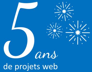 Déjà 5 ans pour votre agence web evolutiveWeb.com