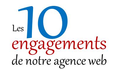 Engagements de notre agence web