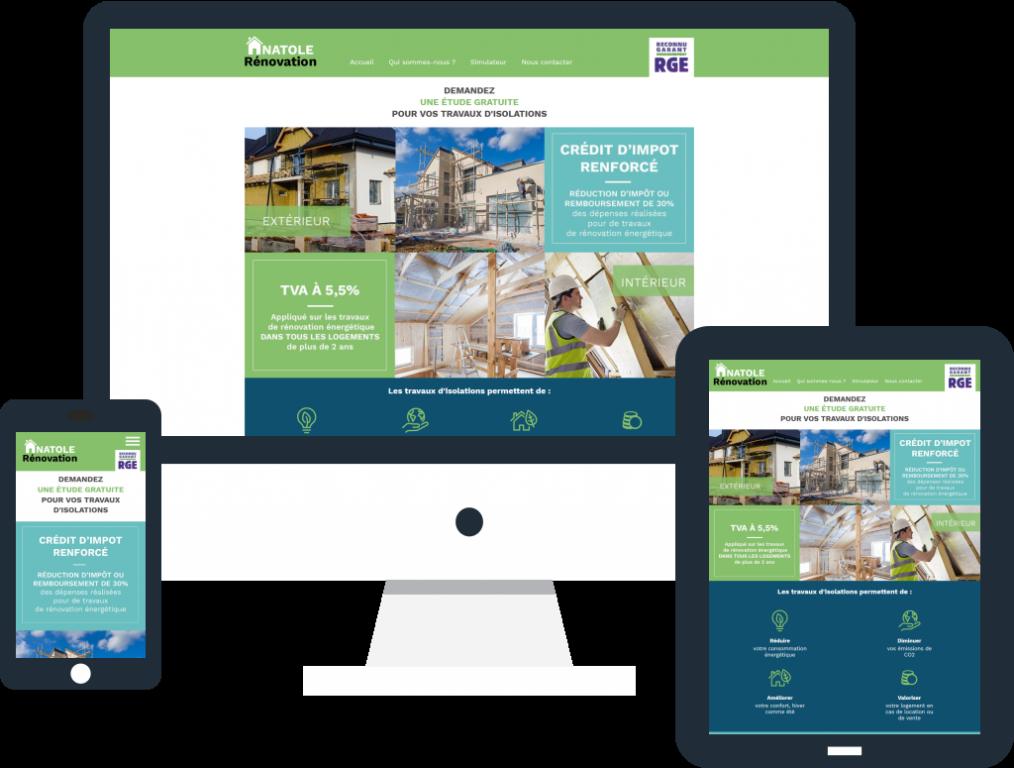 Création du site internet de l'entreprise Anatole Rénovation à Chartres en Eure-et-Loir