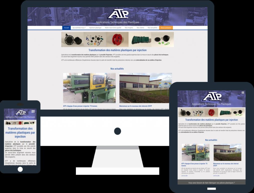 Création du site internet de la société ATP en Eure-et-Loir