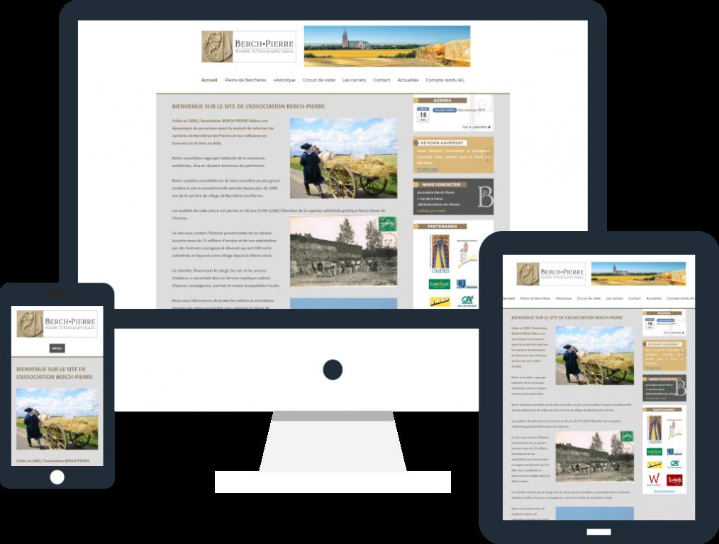 Refonte site internet responsive pour l'association Berch-Pierre