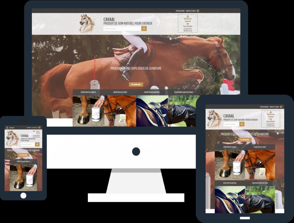 Création boutique en ligne responsive pour la société Cavaal Equi Sport