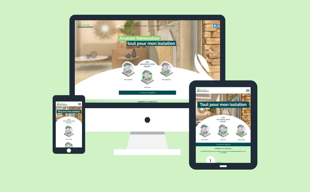 Site internet pour Anatole R�novation � Luisant