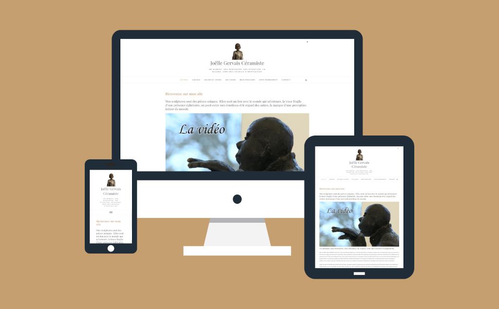 Site internet pour la c�ramiste Jo�lle Gervais en Loir-et-Cher