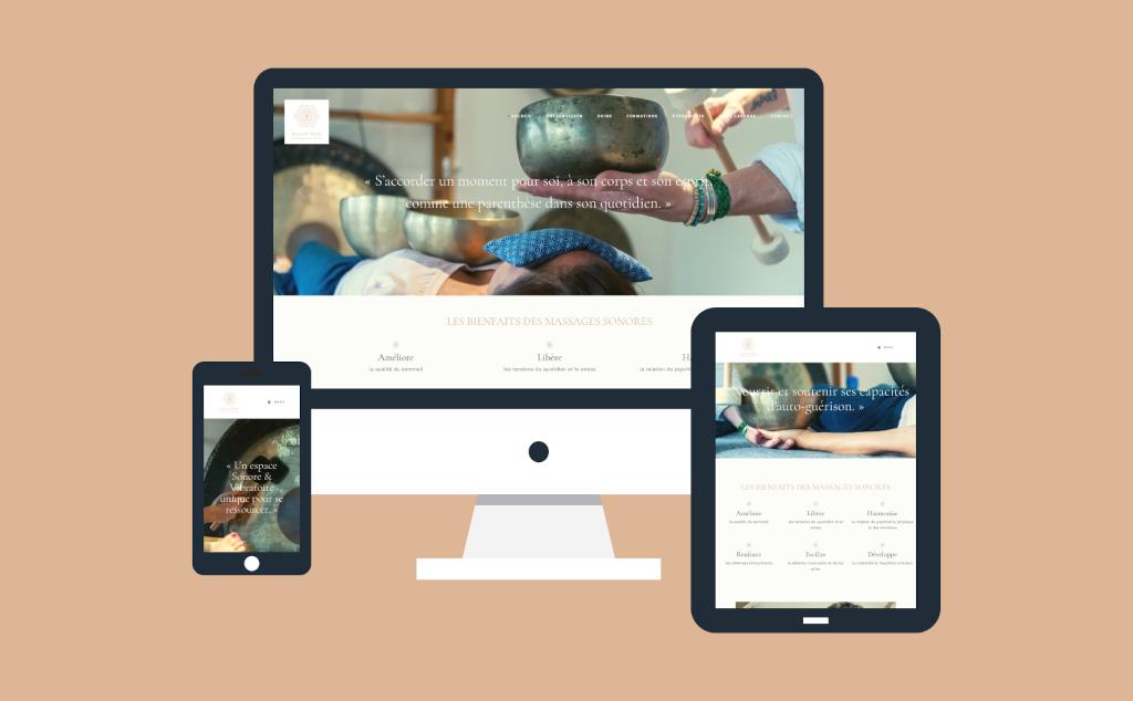 Site internet pour le sonoth�rapeute Manuel Mah� � Nantes