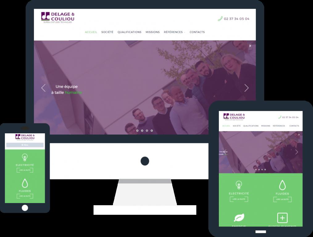 Refonte site internet responsive pour le bureau d'études techniques Delage et Couliou