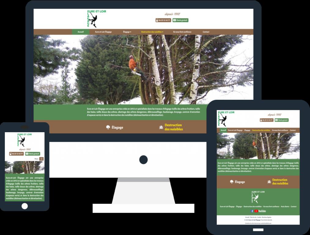 Création site internet vitrine responsive pour Eure-et-Loir Élagage