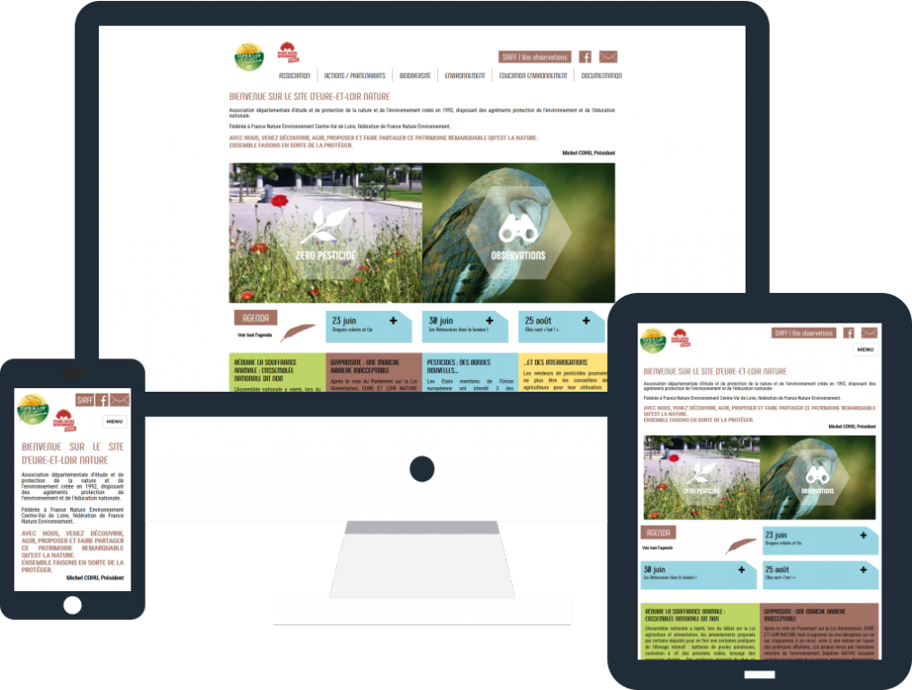 Refonte site internet responsive pour Eure-et-Loir Nature