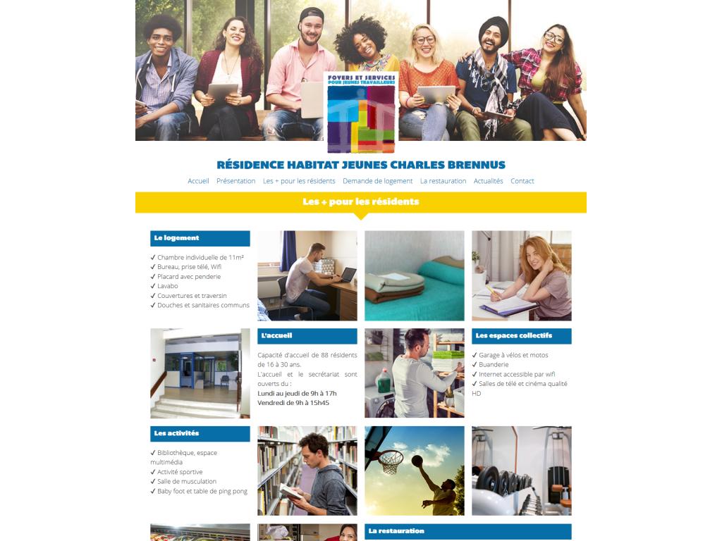 Page Les plus pour les résidents sur le site internet de la Résidence Habitat Jeunes Charles Brennus à Châteaudun