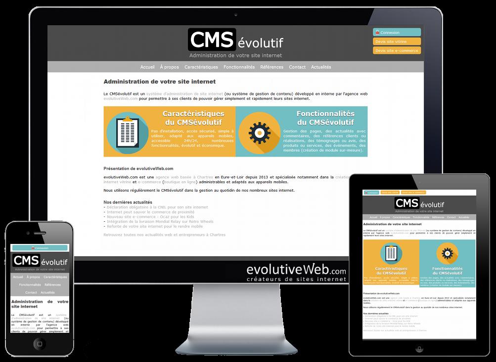 Administration de votre site internet avec le CMSévolutif