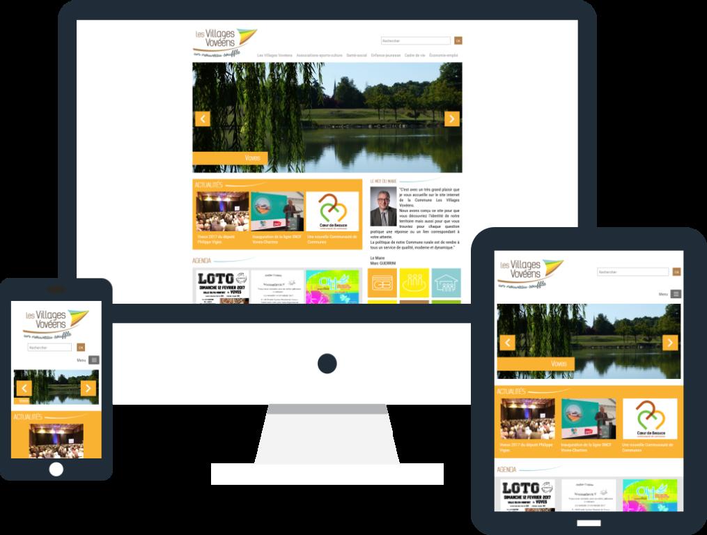Création site internet responsive pour Les Villages Vovéens