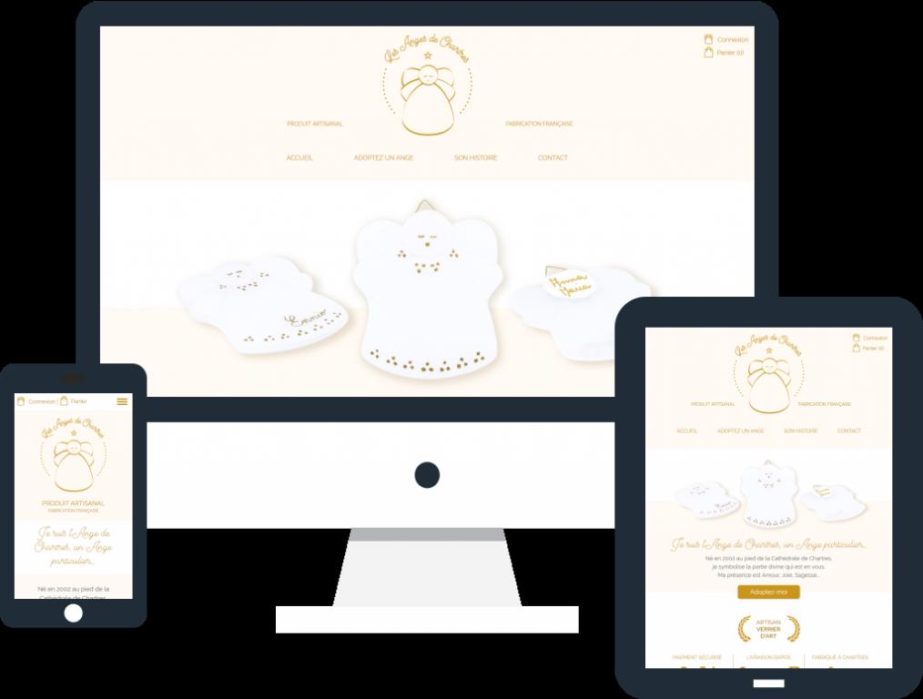 Création boutique en ligne responsive pour Les Anges de Chartres de La 12ème Porte