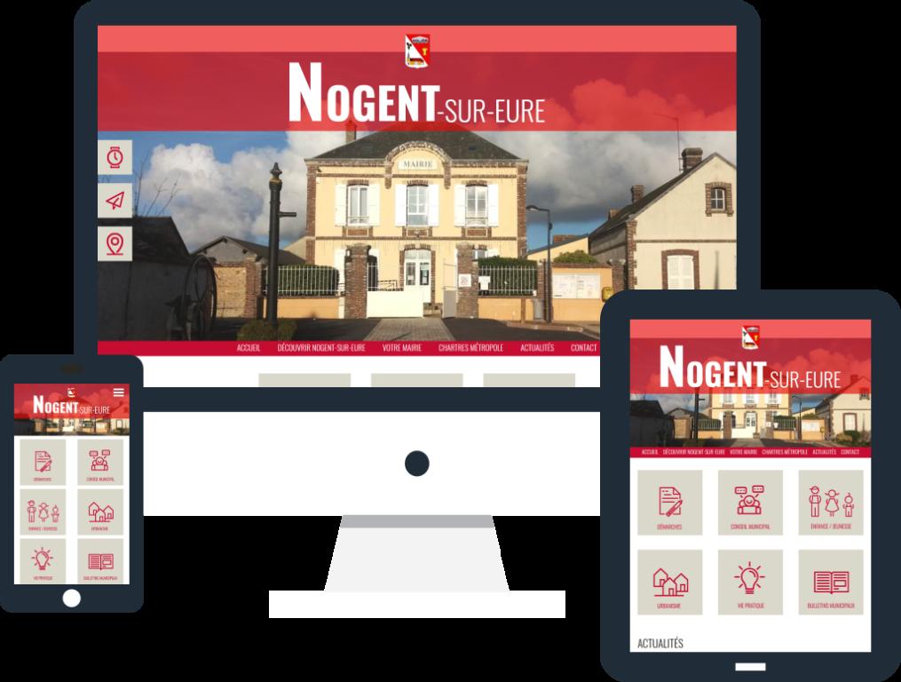 Création du site internet de la mairie de Nogent-sur-Eure en Eure-et-Loir