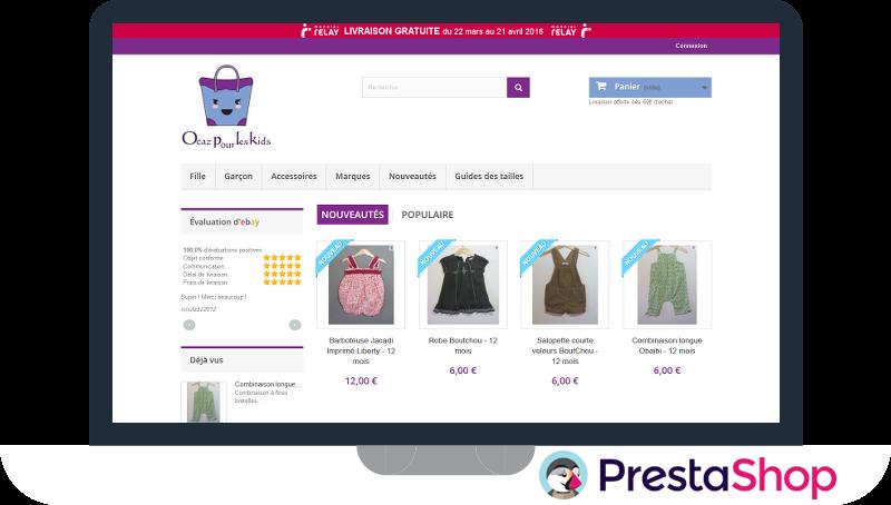 Vente de vêtements d'occasions pour enfants et bébés