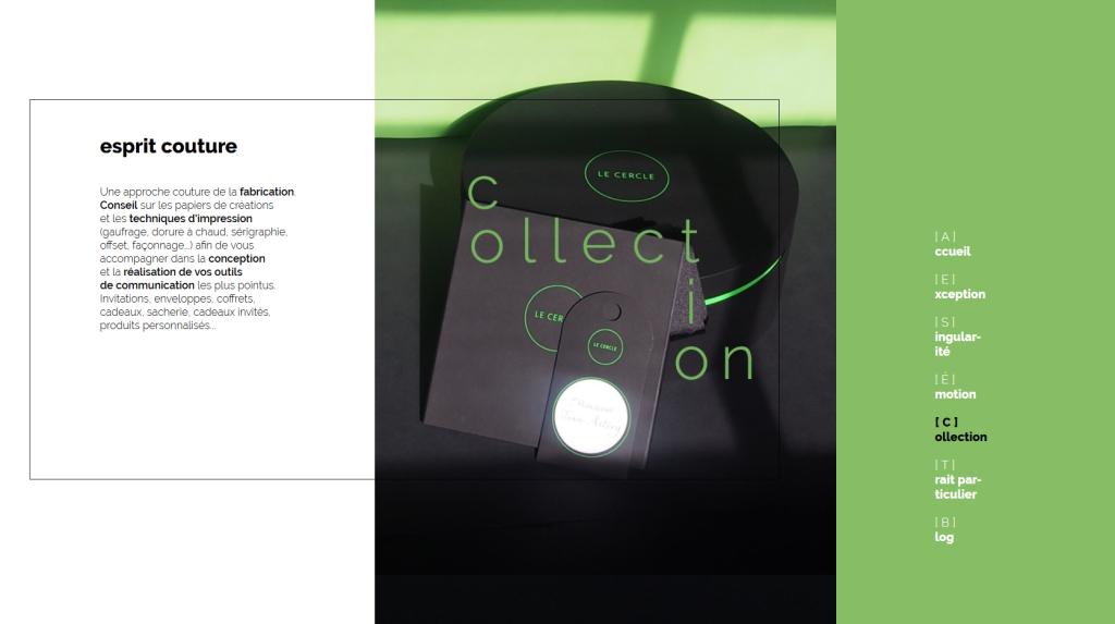 Page de collection du nouveau site internet de Pleins & Déliés