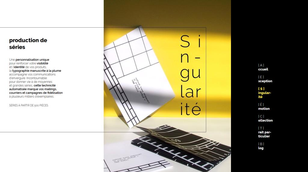 Page singularité du nouveau site internet de Pleins & Déliés