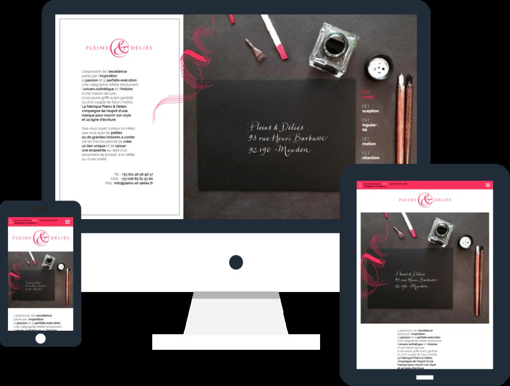 Création site internet vitrine responsive pour la société Pleins & Déliés